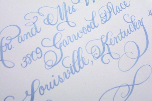 Platinum Flourish (sky blue ink)